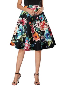 Ericdress Plant Expansion Knee-Length Elegant Skirt