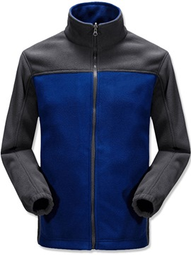 Ericdress Thick Style Color Block Stand Collar Casual Men's Jacket