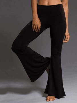 Ericdress Plain Full Length Bellbottoms Casual Pants