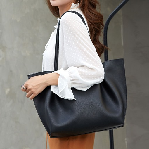 Ericdress Thread PU Plain Rectangle Casual Shoulder Bags