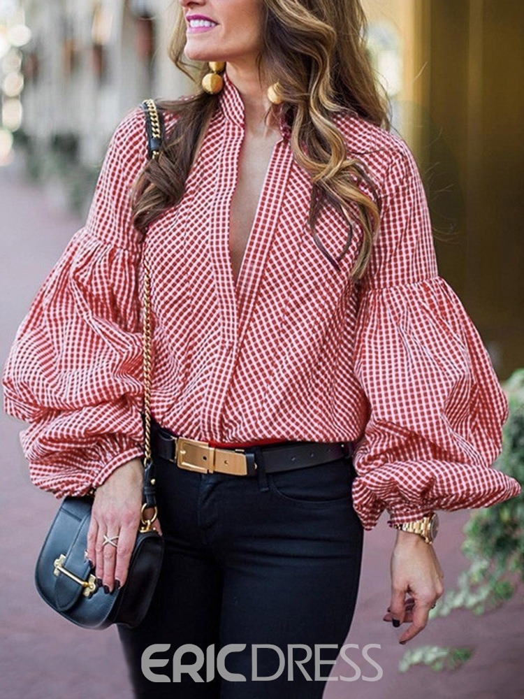 Ericdress Office Lady Standard Long Sleeve Blouse