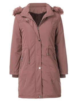 Ericdress Thick Zipper Loose Mid-Length Cotton Padded Jacket