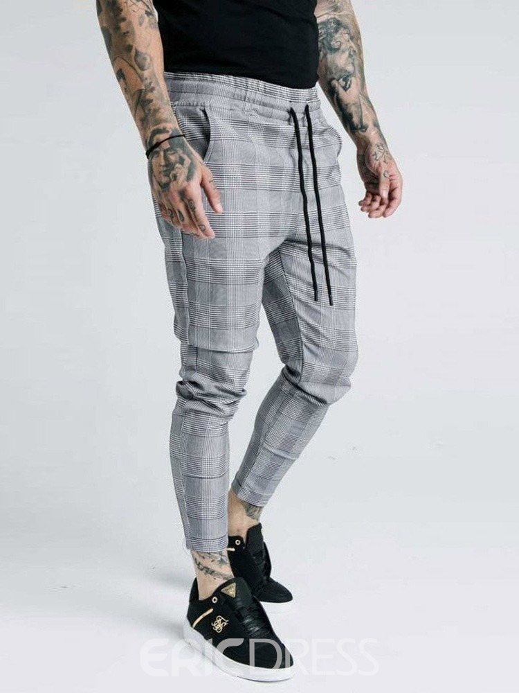 Ericdress Pencil Style Low Waist Men's Casual Pants