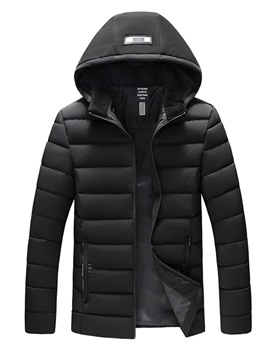 Ericdress Plain Zipper Style Casual Men's Down Jacket