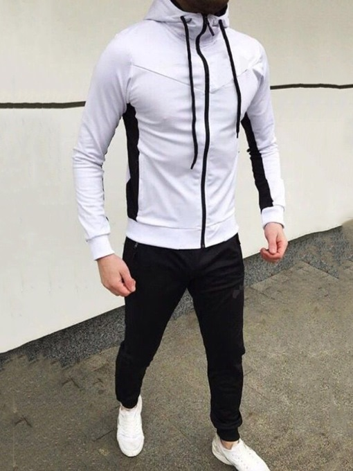 Ericdress Sports Pants Patchwork Men's Outfit