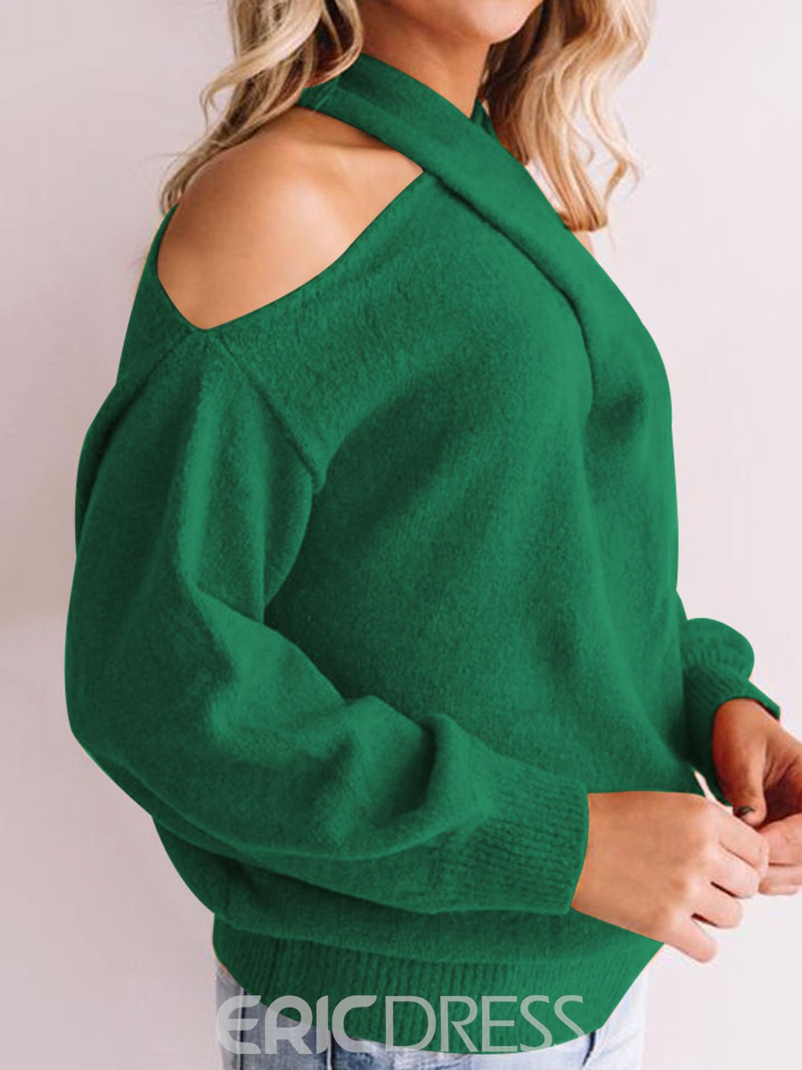 Ericdress Regular Off Shoulder Standard Sweater