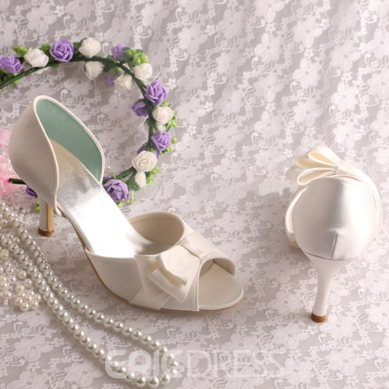 Ericdress Unique Bowknot High Heel Wedding Shoes