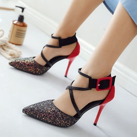 Ericdress Thread Stiletto Heel Pointed Toe OL Prom Shoes