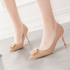 Ericdress Thread Slip-On Pointed Toe Wedding Pumps