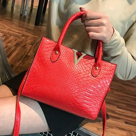 Ericdress Embossing Alligator PU Rectangle Tote Bags