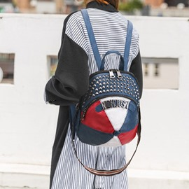Ericdress Patchwork Oxford Zipper Casual Backpacks