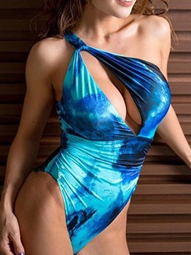 Ericdress One Piece Sexy One Shoulder Beach Swimwear