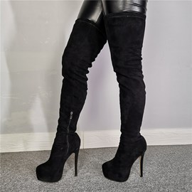Ericdress Side Zipper Round Toe Knee High Boots