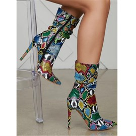 Ericdress Side Zipper Pointed Toe Fashion Ankle Boots