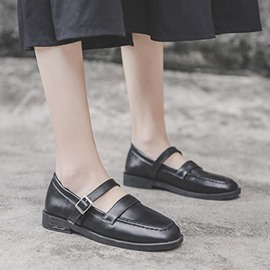Ericdress Block Heel Buckle Thread Korean Flats
