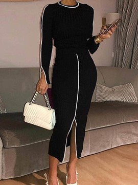 Ericdress Casual Round Neck Two Piece Sets