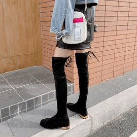 Ericdress Square Toe Lace-Up Back Plain Casual Boots