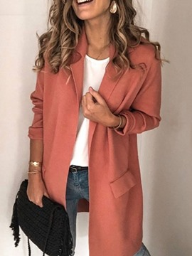 Ericdress Solid Casual Regular Straight Mid-Length Overcoat
