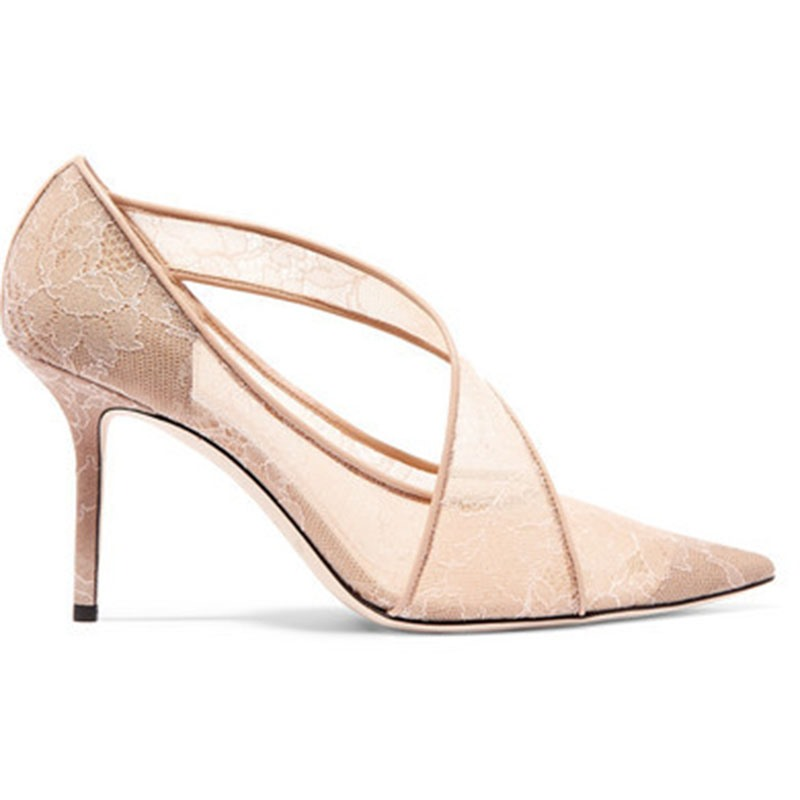 Ericdress Pointed Toe Stiletto Heel Slip-On Low-Cut Pumps