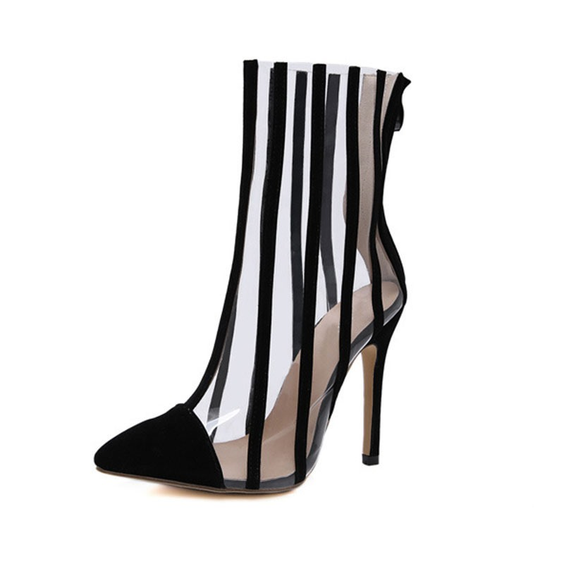 Ericdress Stiletto Heel Pointed Toe Color Block Western Boots
