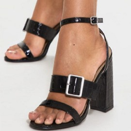 Ericdress Open Toe Ankle Strap Line-Style Buckle Chunky Sandals