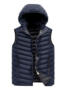 Ericdress Thick Plain Casual Zipper Men's Waistcoat