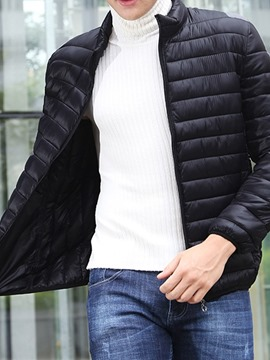 Ericdress Stand Collar Plain Zipper Casual Men's Down Jacket