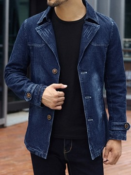 Ericdress Plain Lapel Thick Men's Casual Jacket