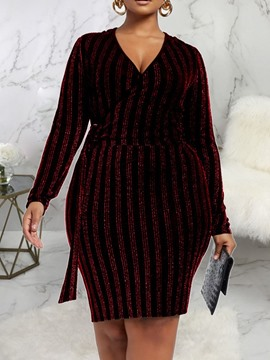 Ericdress Long Sleeve Knee-Length Lurex Regular Women's Pullover Dress