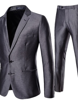 Ericdress Blazer Single-Breasted Plain Color Men's Dress Suit