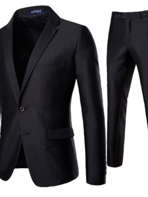Ericdress Plain Single-Breasted Men's Dress Suit