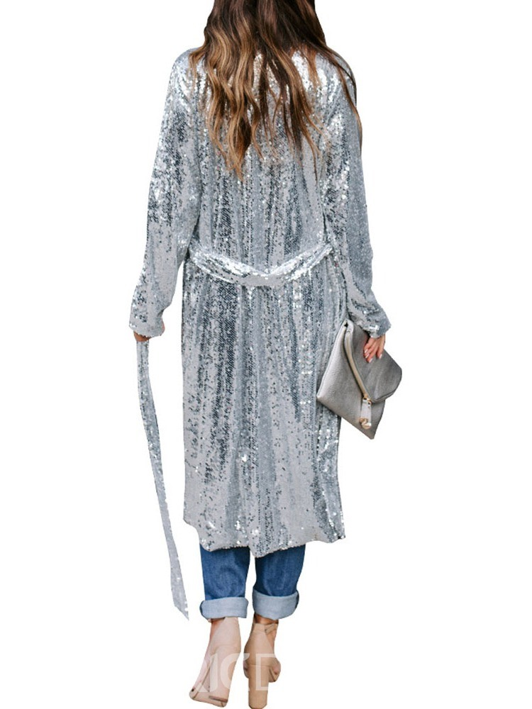 Ericdress Fashion Sequins Long Loose Casual Trench Coat