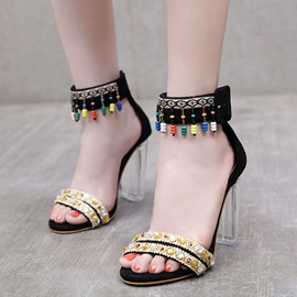 Ericdress Covering Heel Line-Style Buckle Chunky Sandals