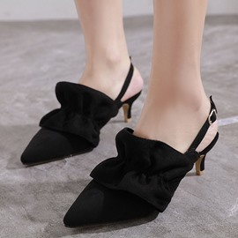 Ericdress Stiletto Heel Pointed Toe Slingback Strap Buckle Sandals