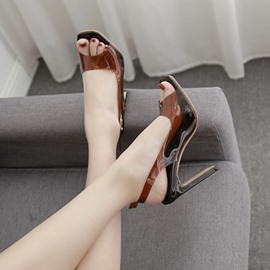 ericdress Schnalle Peep Toe Thread Sandalen