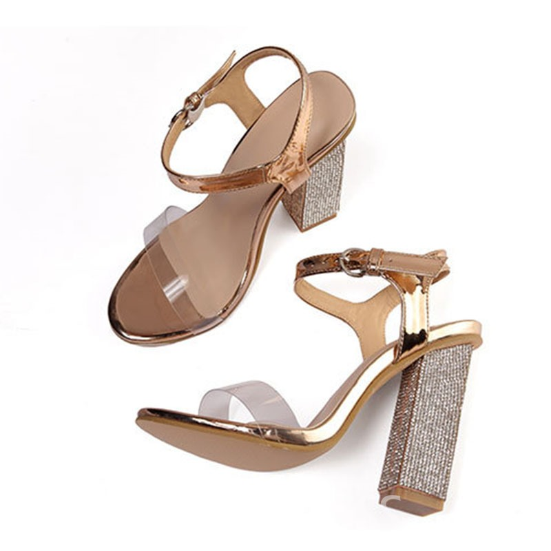 Ericdress Heel Toe Ring Ankle Strap Chunky Sandals