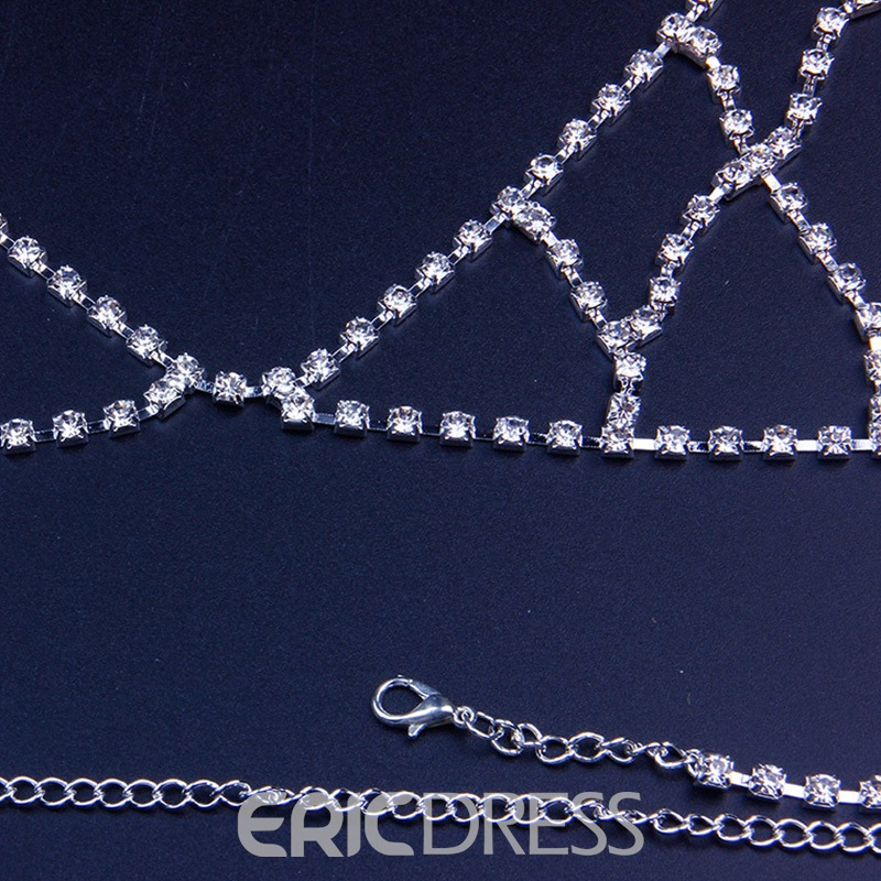 Ericdress Plain Diamante Party Female Necklaces