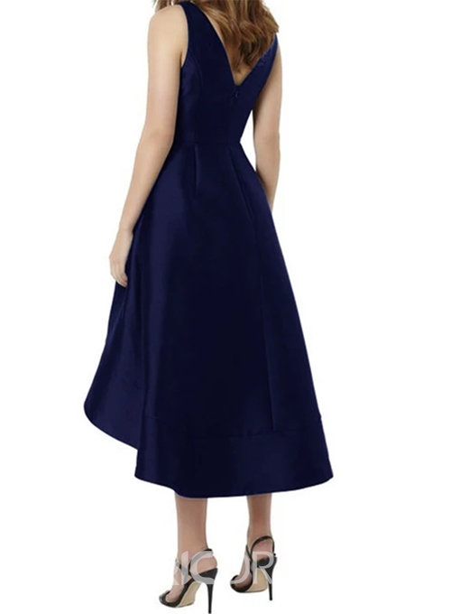 Ericdress V Neck A Line High Low Bridesmaid Dress