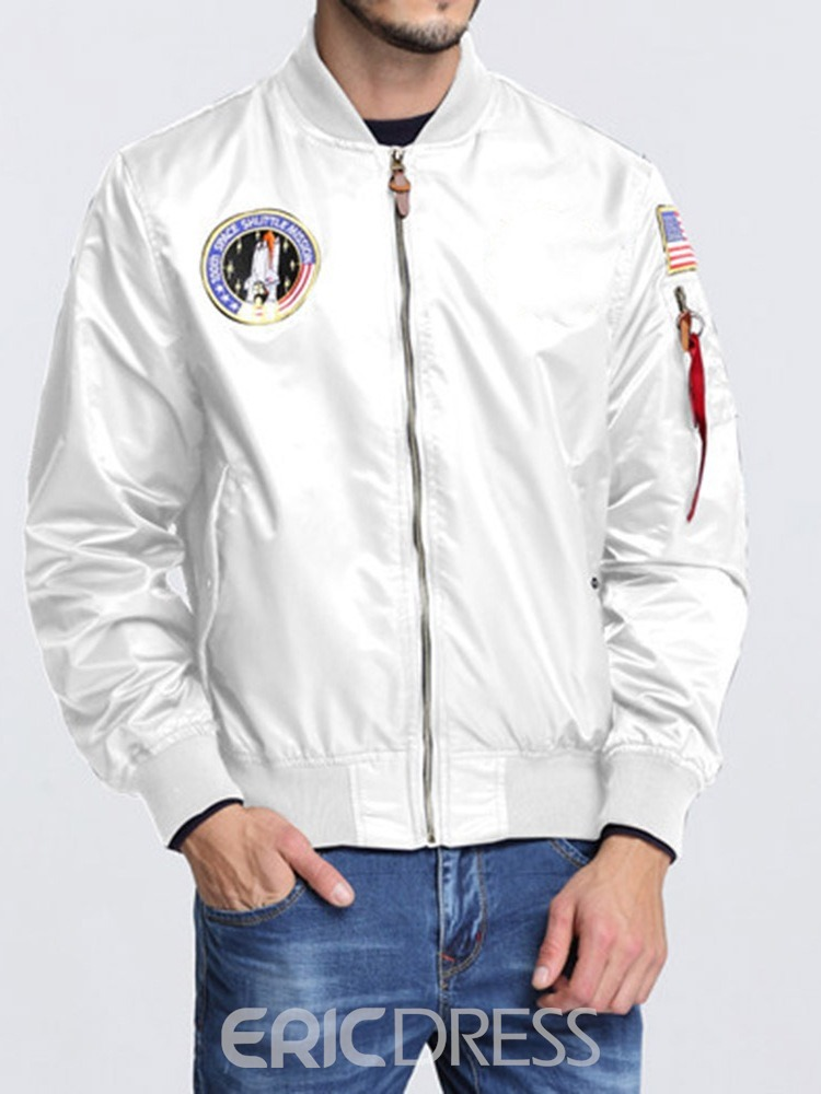 Ericdress Stand Collar Appliques Loose Fall Men's Jacket