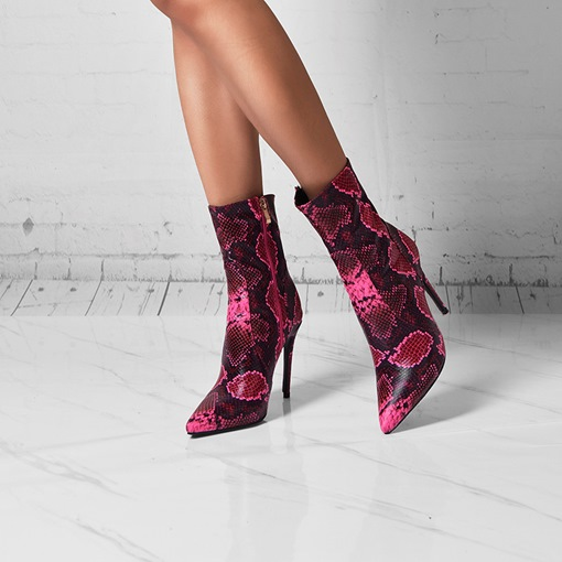 Ericdress Side Zipper Round Toe Ankle Boots