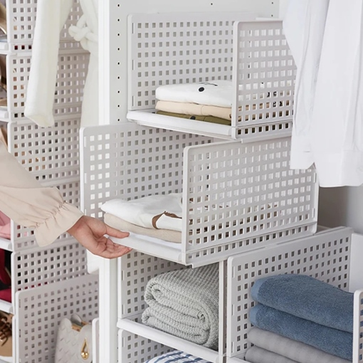 Ericdress Bathroom Multi-functional Can Stacked Basket Organizers Storage Box