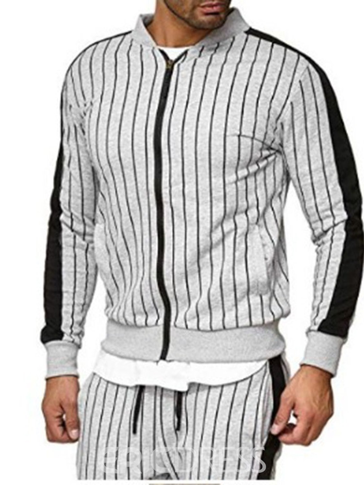 Ericdress Casual Pants Stripe Men's Outfit