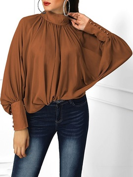 Ericdress Plain Standard Women's Long Sleeve Blouse