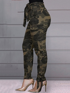 Ericdress Camouflage Slim Pencil Pants Women's Casual Pants