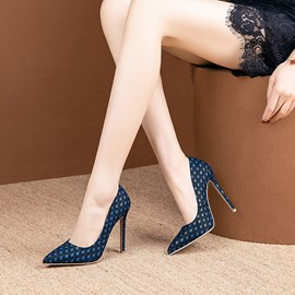 Ericdress PU Pointed Toe Slip-On Stiletto Heel Pumps