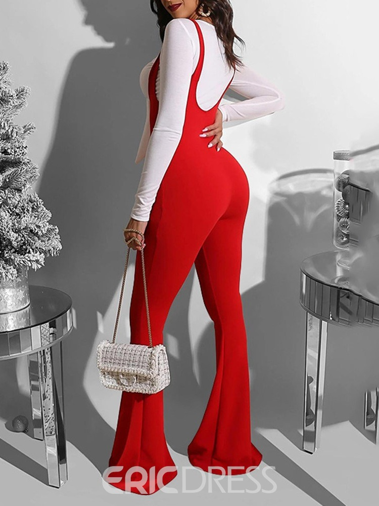 Ericdress Casual Jumpsuit Bellbottoms Pullover Women's Two Piece Sets