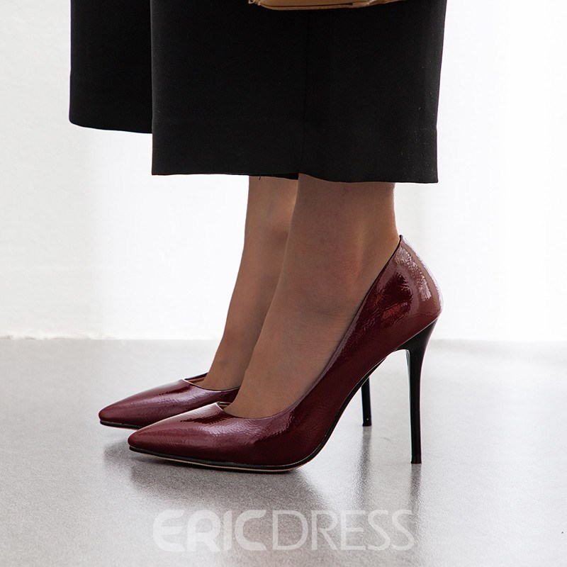 Ericdress Stiletto Heel Pointed Toe Slip-On Casual Pumps