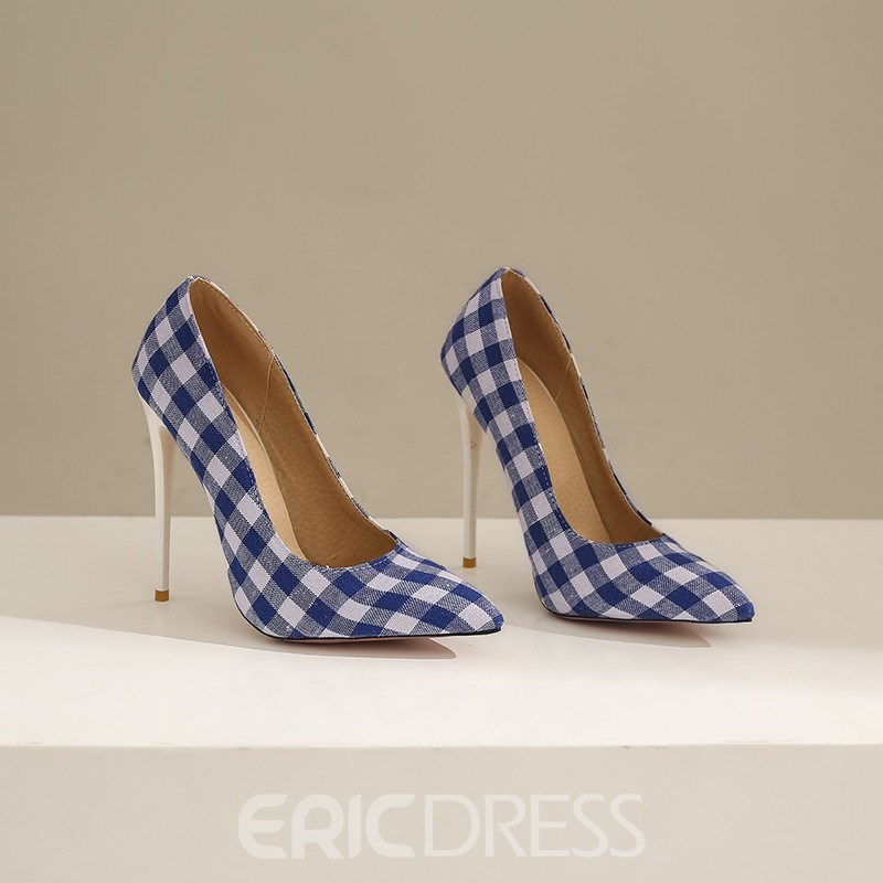Ericdress Thread Stiletto Heel Pointed Toe Banquet Pumps