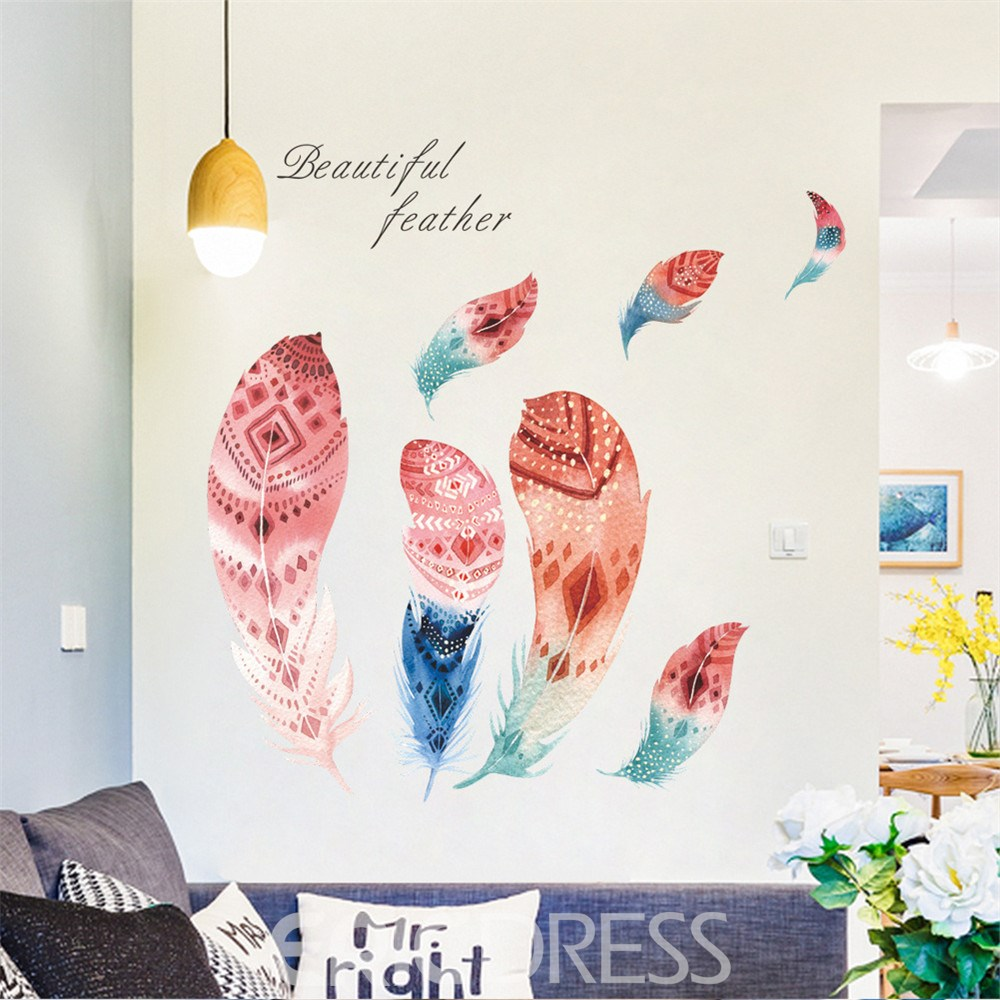 Ericdress Creative Feather Wall Stickers / Wall Decorations