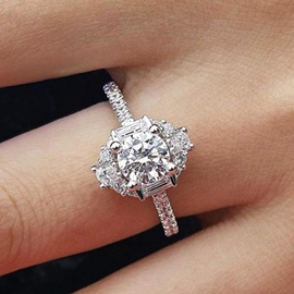 Ericdress Romantic Diamante Birthday Charm Rings